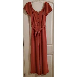 NWT Monteau Size Medium Women's Mauve Jumpsuit